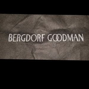 Bergdorf Goodman black cloth garment bag 54x24.5